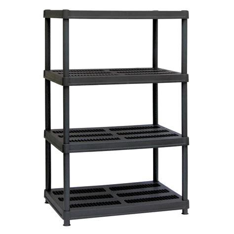 Home Shelving Units by Sandusky 56 In H X 36 In W X 24 In D 4 Shelf Black