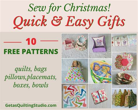 Quick And Easy Gifts To Sew For Christmas