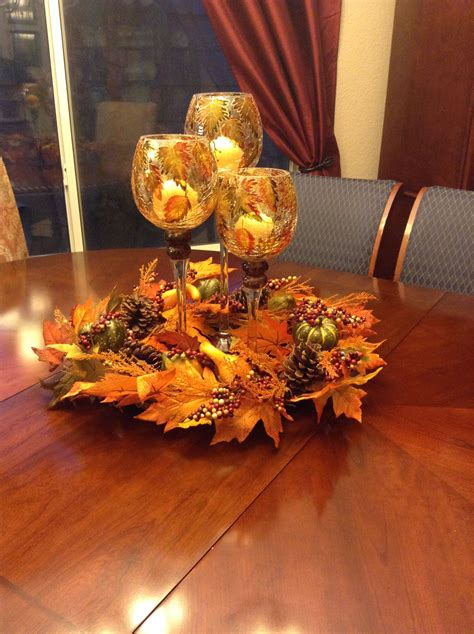 My Fall Centerpiece On My Dining Room Table Fall