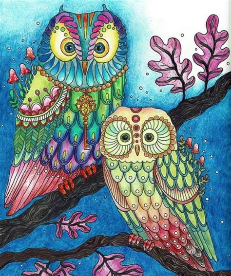 owl coloring pages  colored coloring pages
