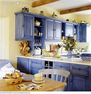 yellow and blue country kitchen With kitchen colors with white cabinets with yellowstone national park sticker