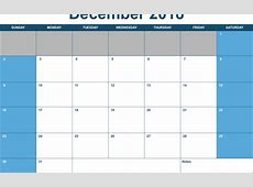 Numbers 2018 Horizontal Monthly Calendar Template Free