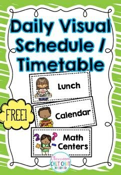 daily visual schedule timetable  classroom chit