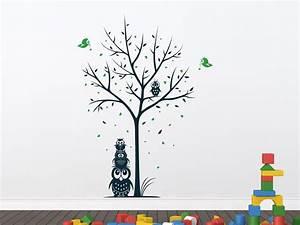 Wandtattoo Baum Kinder : wandtattoo zweifarbiger baum mit eulen f r kinder ~ Whattoseeinmadrid.com Haus und Dekorationen