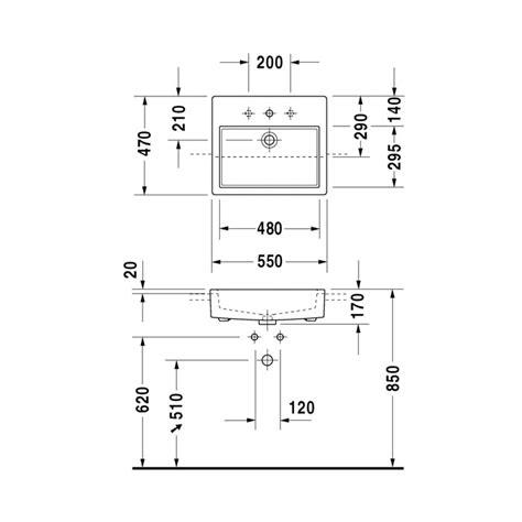 duravit vero sink sizes duravit vero 550x470mm 1 tap semi recessed basin
