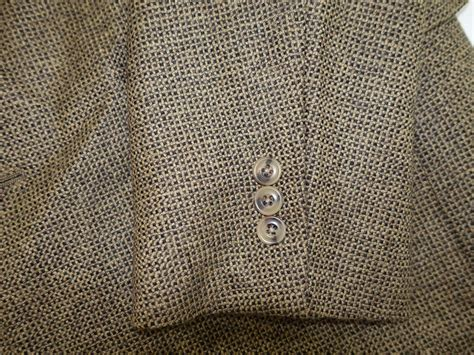 austin reed mens  button sport coat size  long brown