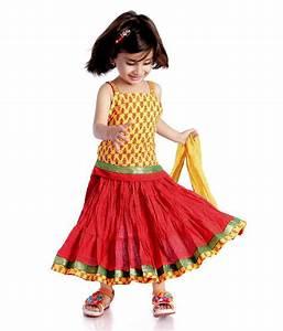 DotnDItto Rajasthani Yellow & Red Color Ghagra Choli set ...