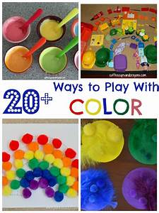 20+ Color Activities for Kids Coffee Cups and Crayons