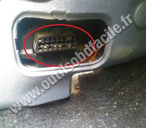 car diagnostic computer obd2 connector location in ford courier 1985 1998