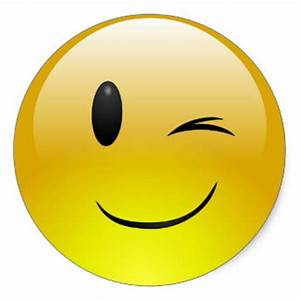 Winking Emoji Face Funny Custom Sticker