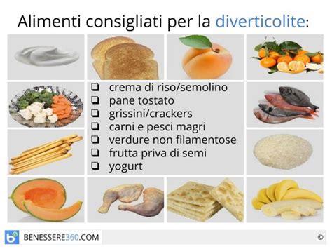 dieta  diverticoli cosa mangiare alimenti consigliati