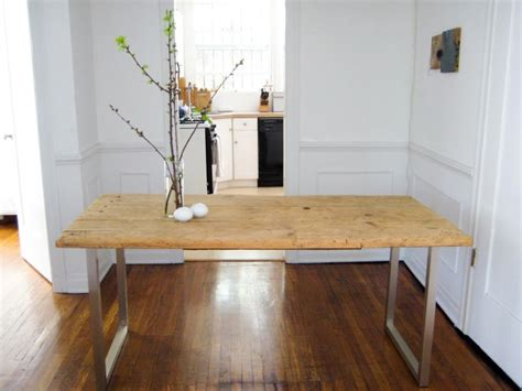 diy minimalist dining table diy an old meets new dining table for under 125