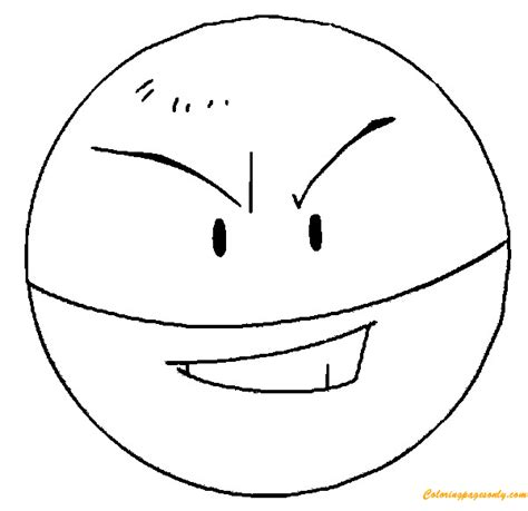 electrode pokemon coloring page  coloring pages