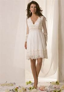 Casual short lace wedding dresses for casual outdoor for Casual lace wedding dresses