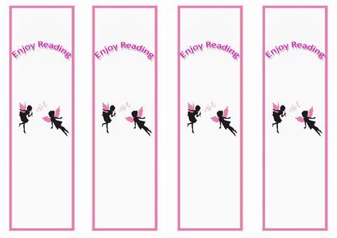 fairy bookmarks birthday printable
