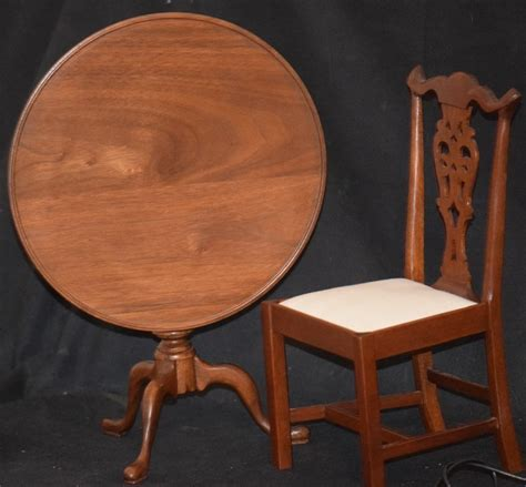 vintage doll table chair fred laughon tilt top table