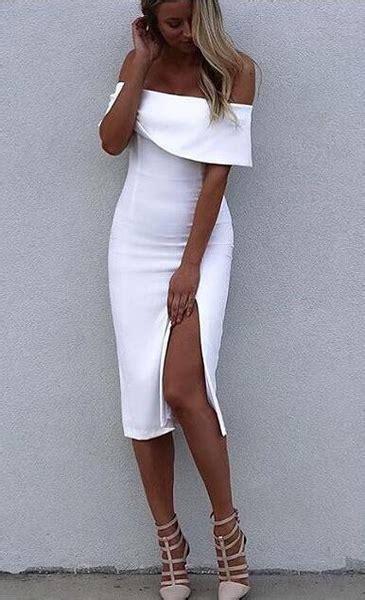 Make them stare u2600 White Off Shoulder Elegant Luxury Bodycon Sexy Coc u2013 Crystalline