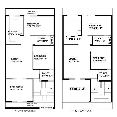 feet   feet  house plan decorchamp