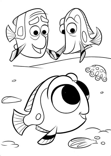 finding dory coloring pages    print