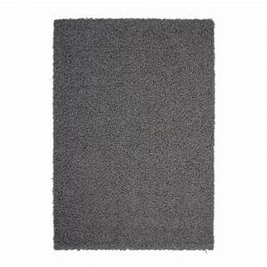 tapis salon shaggy trendy 30mm 160x230 gris fonce achat With tapis salon cdiscount