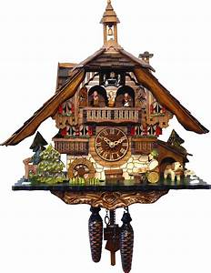 Cuckoo, Clock, Quartz-movement, Chalet-style, 40cm, By, Engstler