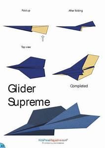 Paper Airplane Instructions U2019 Glider Supreme Templates