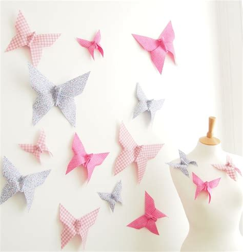 I love this piece because it's so unique and looks professional. Origami Butterfly Wall Decor for Nursery Bedroom - 15 ...