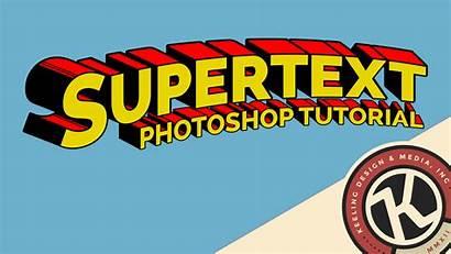 Supertext Superman Tutorial Comic Font Text Photoshop