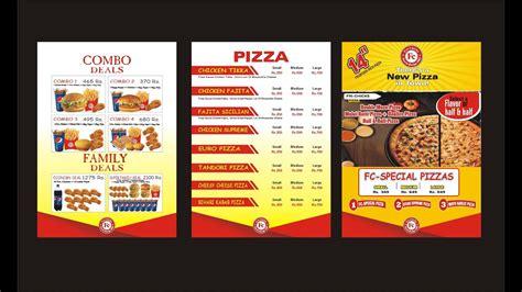 fast food menu design corel draw youtube