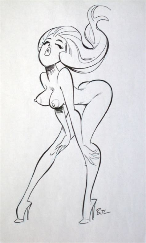 nude sexy dancer by bruce timm in f m s stuff i used to own comic art gallery room