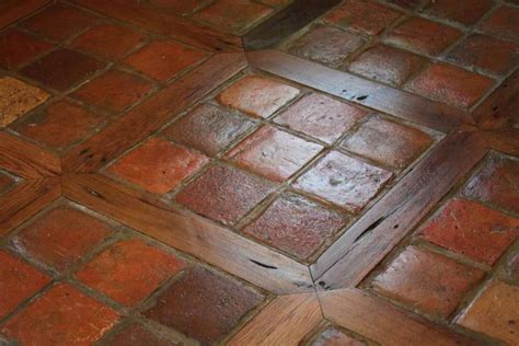 saltillo tile stairs step raiser and terracotta steps