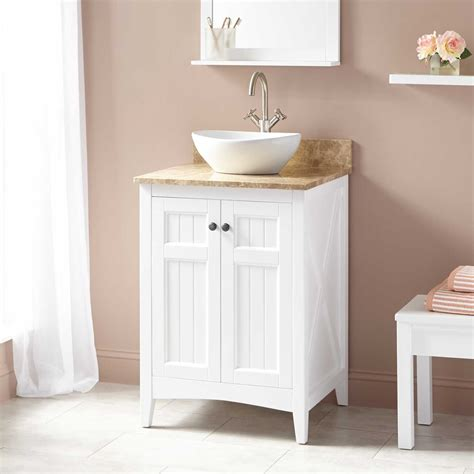 Small Vanity Tops by 24 Quot Alvelo Vessel Sink Vanity White In 2019 Bathroom