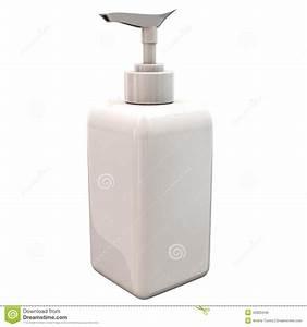 Bouteille En Plastique Vide : bouteille en plastique vide blanche avec la pompe de distributeur 3d illustration stock image ~ Dallasstarsshop.com Idées de Décoration