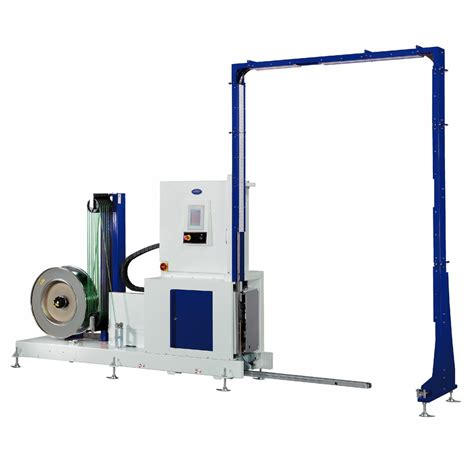 optimax automatic vertical pallet strapper