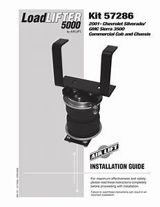 Air Lift 57286 Loadlifter 5000 Installation Guide
