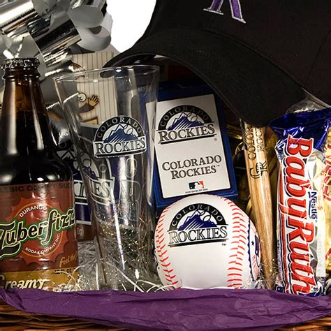 colorado rockies baseball gift basket rockies fan gift