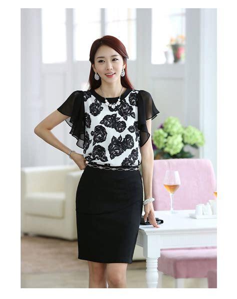 baju blouse wanita motif bunga model terbaru jual