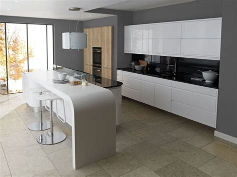 Remo White High Gloss Lacquer Kitchen   Lark & Larks