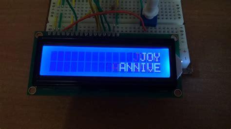 utiliser  ecran lcd arduino faire defiler  texte