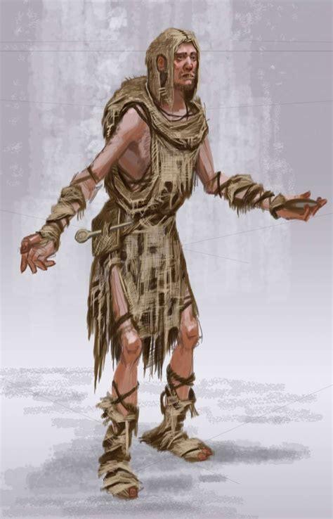 Beggar Male Concept Art From The Elder Scrolls V Skyrim