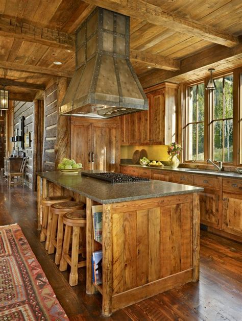 cuisines rustiques bois maison rustique entièrement en bois au montana états