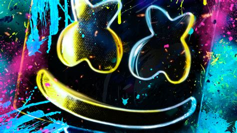 4k Resolution Neon Marshmello Wallpaper 3d by Neon Marshmello Hd 4k Wallpapers Images