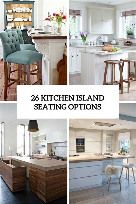 how to a kitchen island with seating 26 modern and smart kitchen island seating options digsdigs
