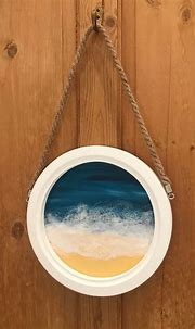 Layered Resin and Acrylic Beach Portal Painting | Resin ...