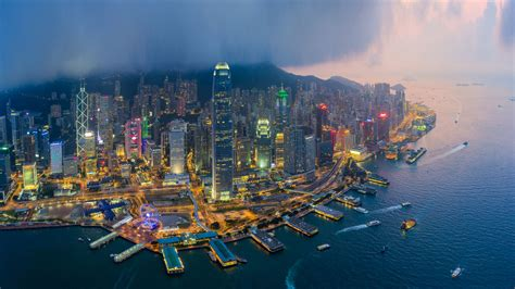 hong kong chinese administrative region densely populated urban center  port  global