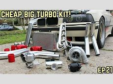 THE BIG TURBO KIT IS COMPLETE! BMW E36 325i Drift Build