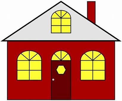 Clip Clipart Houses Homes Lights Lighted Transparent