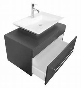 meuble salle de bain pegasus anthracite satine avec vasque With avis meuble salle de bain emotion 24