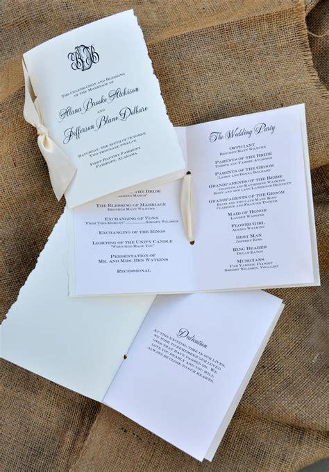 Customizing your Wedding Programs - Wiregrass Weddings