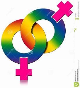 Gay Female Rainbow Colored Symbol Stock Illustration
